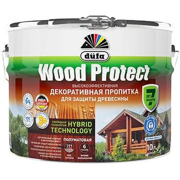 """""""Dufa"""" Пропитка WOOD PROTECT бесцветная 10л"""